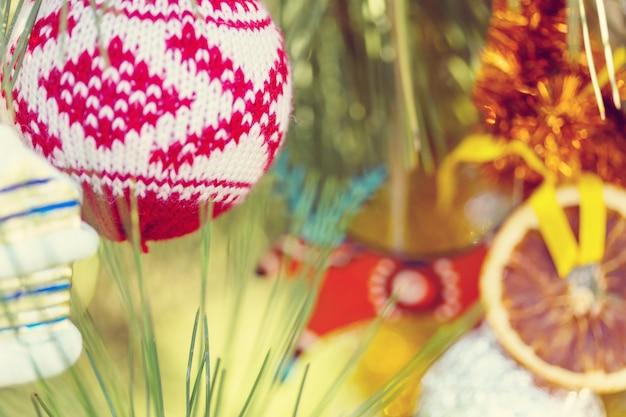 Schöne traditionelle weihnachtsdekornahaufnahme