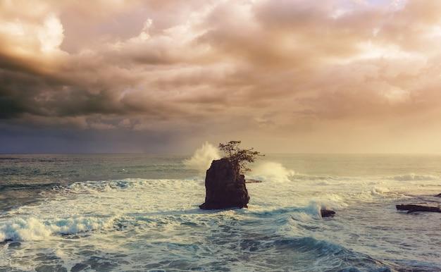 Schöne tropische pazifikküste in costa rica