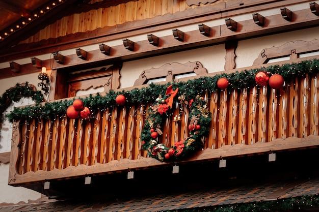 Schöne weihnachtsdekoration in breslau, polen