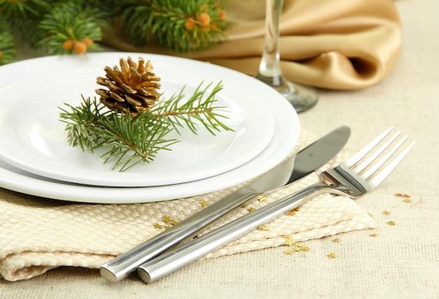 Schöne weihnachtskulisse aus nächster nähe