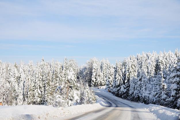 Schöne winterszene