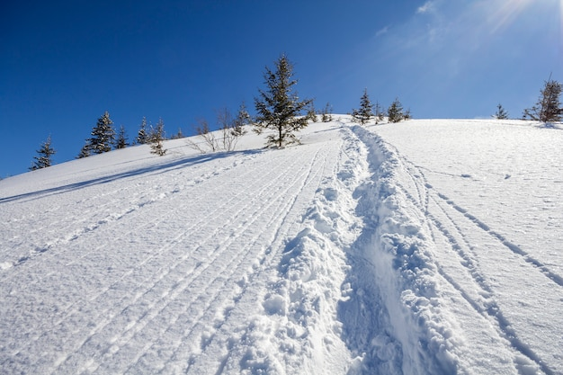 Schöne winterweihnachtslandschaft.