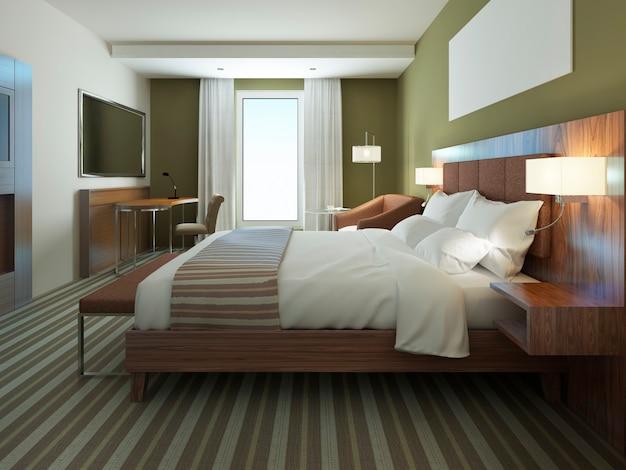 Schöne wohnung eingerichtet, komfortables schlafzimmer