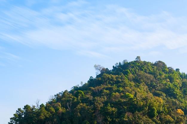 Schöne wolkenblicklandschaft am berg nordthailand