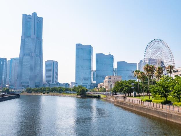 Schöne yokohama-skylinestadt in japan