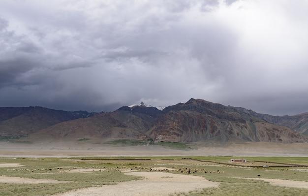 Schöne zanskar landschaft, nordindien