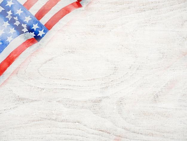 Schöne zeichnung der amerikanischen flagge. nahansicht