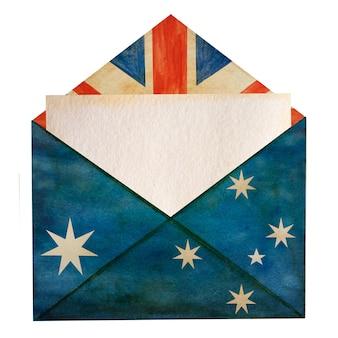 Schöne zeichnung der australischen flagge. nahaufnahme, keine leute, strukturierte oberfläche.