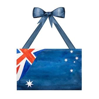 Schöne zeichnung der australischen flagge.