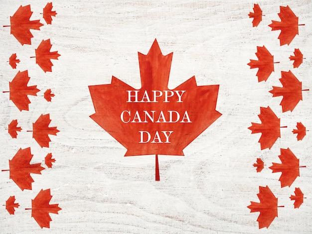 Schöne zeichnung der kanadischen flagge. nahansicht