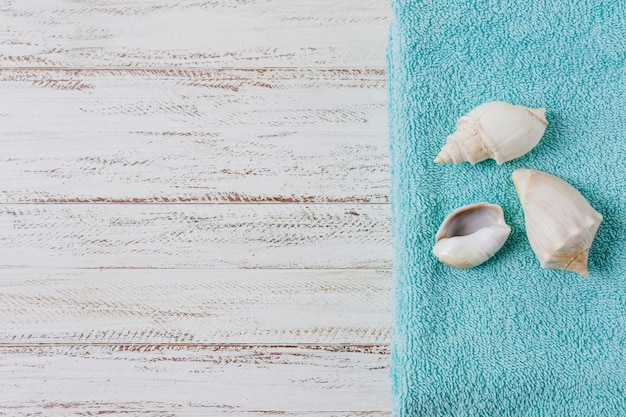 Schöne zusammensetzung für badekurort- oder badkonzept mit copyspace