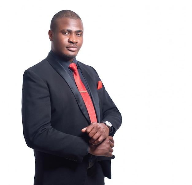 Schöner afrikanischer mann ernst