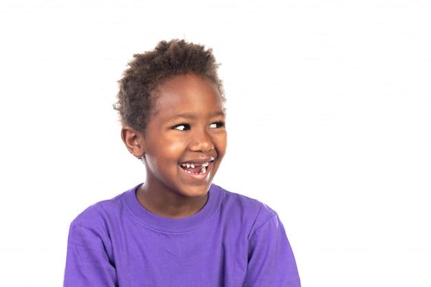 Schöner afroamerikanischer junge