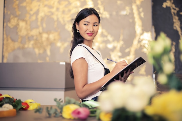 Schöner asiatischer florist
