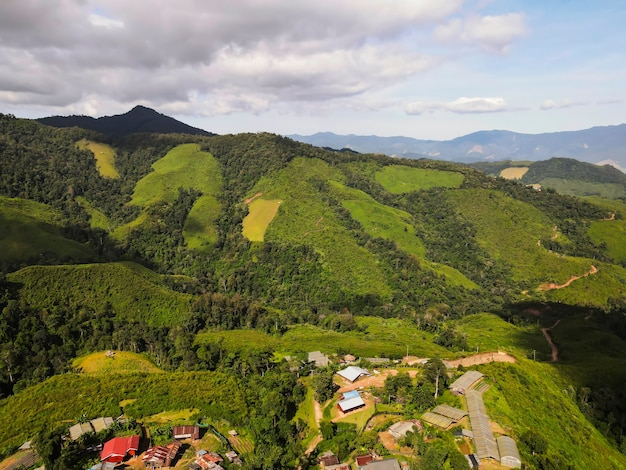 Schöner berg in der provinz nan