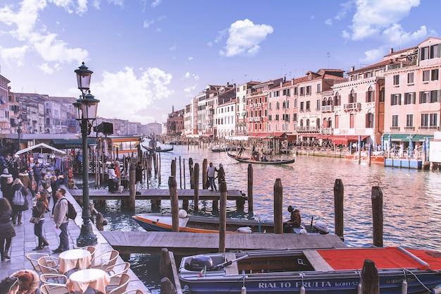Schöner canal grande in venedig, italien