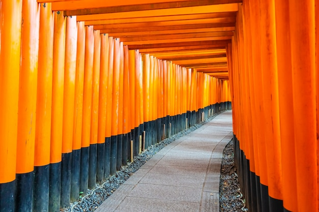 Schöner fushimi inari schreintempel in kyoto