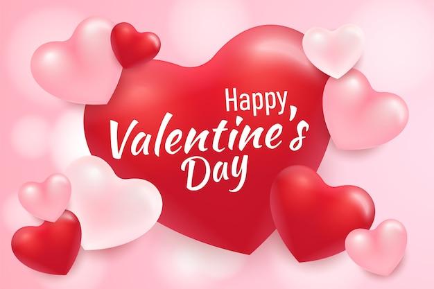 Schöner glücklicher valentinstaghintergrund mit herzen