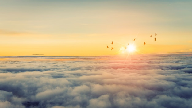 Schöner himmel und wolke
