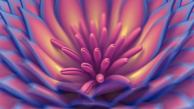 Schöner hintergrund mit 3d-illustration der blumen