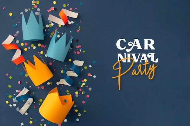 Schöner karneval mit partydekoration