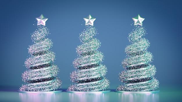 Schöner luxusweihnachtsfeiertagshintergrund des neuen jahres. 3d abbildung, wiedergabe 3d. 3d abbildung, wiedergabe 3d.