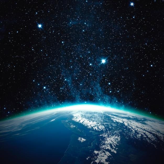 Schöner planet erde - elemente dieses bildes von der nasa eingerichtet