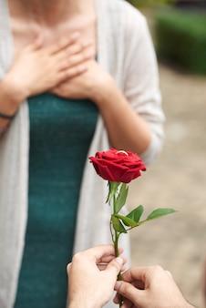 Schöner romantischer antrag