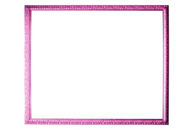 Schöner rosa rahmen isoliert auf weißem hintergrund