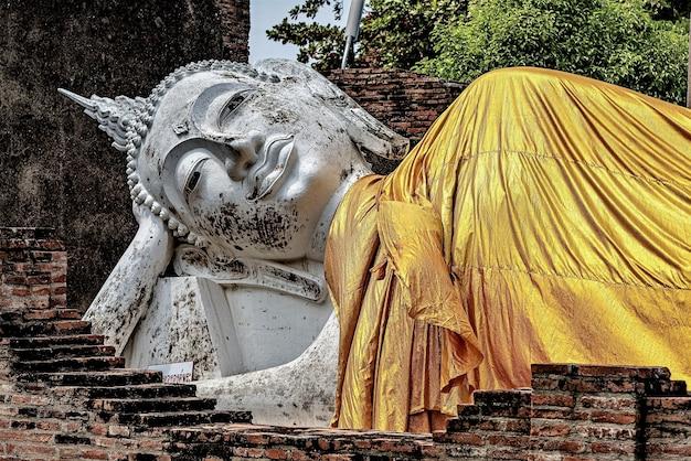 Schöner schuss der buddha-statue