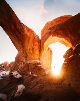 Schöner schuss von grand canyon felsen