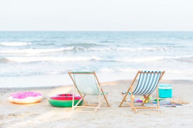Schöner strand im sommer