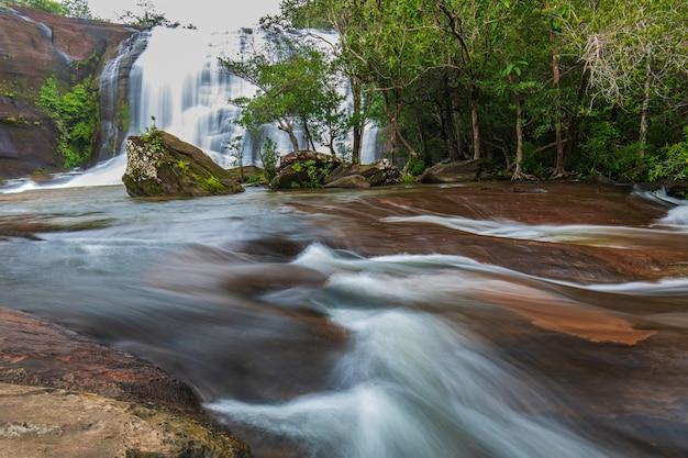 Schöner wasserfall in der natur