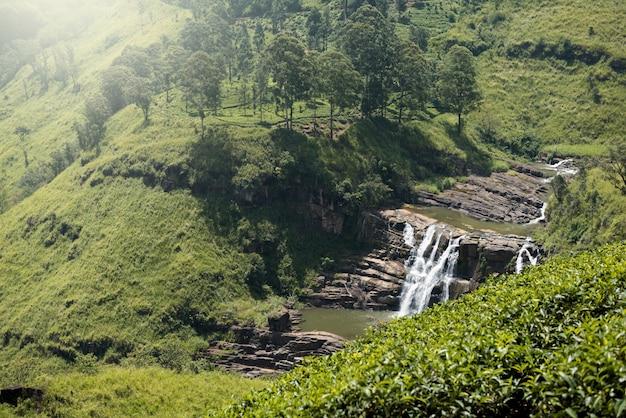 Schöner wasserfall in sri lanka