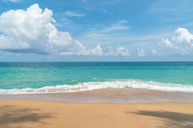 Schöner weißer sandstrand phuket, thailand