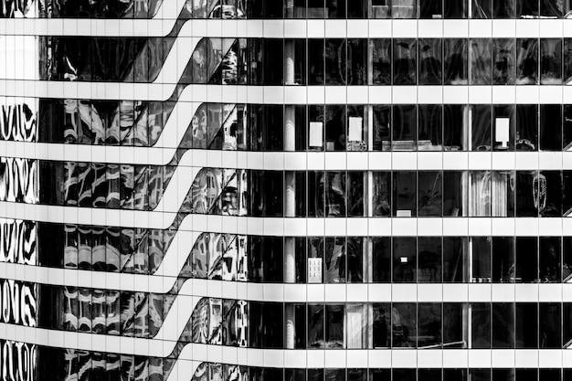 Schönes architekturfenster-gebäudemuster