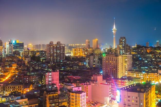 Schönes architekturgebäudestadtbild von macao-stadt