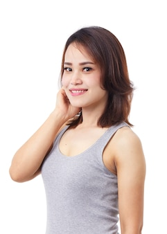 Schönes asiatisches weibliches porträt