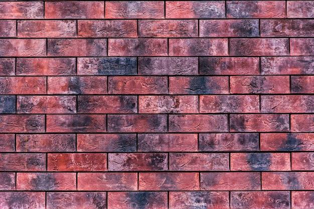 Schönes backsteinmauerwerk zu hause auf der straße