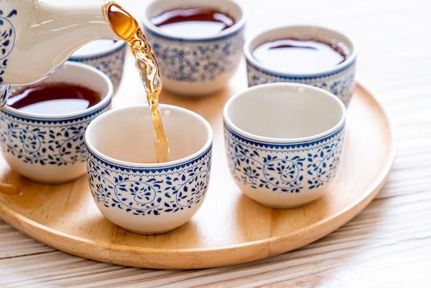 Schönes chinesisches tee-set
