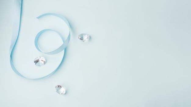 Schönes diamantenkonzept mit elegantem stil