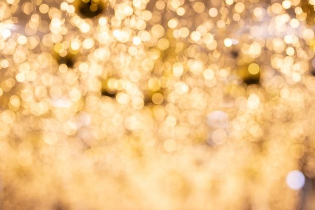 Schönes goldenes bokeh für hintergrund.