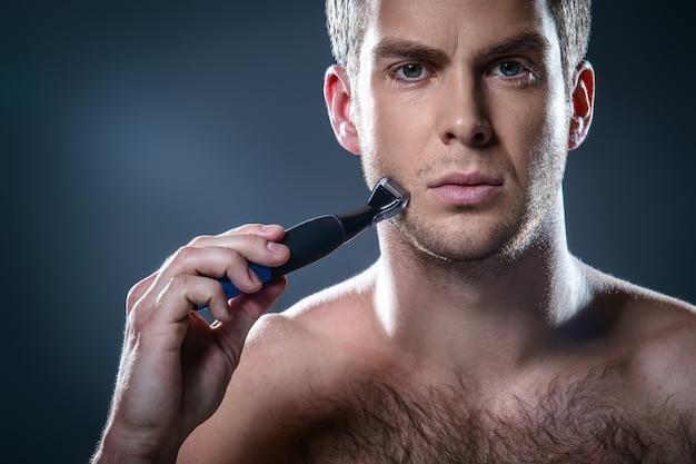 Schönes konzept für männliche schönheit