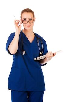 Schönes krankenschwesterportrait