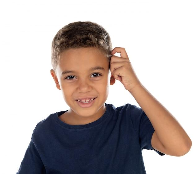 Schönes lateinisches kind
