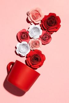 Schönes liebessortiment auf rosa