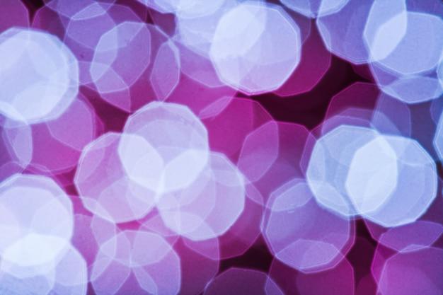 Schönes lila lichtbokeh mit großer detalisation