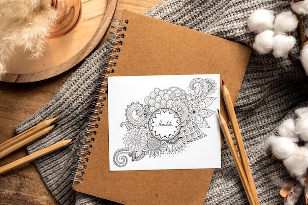 Schönes mandala-designkonzept