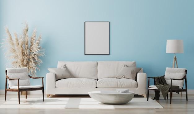 Schönes modernes zimmer mit einem bequemen sofa