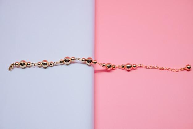 Schönes rundes goldarmband